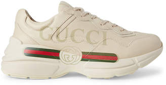 Gucci Men's Rhyton Print Low-Top Sneakers