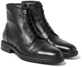 Hugo Boss - Warsaw Cap-toe Full-grain Leather Boots