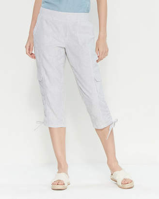Rafaella Petite Seersucker Capri Cargo Pants