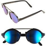 Illesteva Women's 'Milan Iv' 49Mm Sunglasses - Black/ Blue