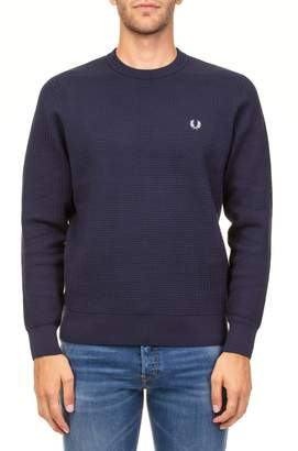 Fred Perry Waffle Cotton Blend Sweater