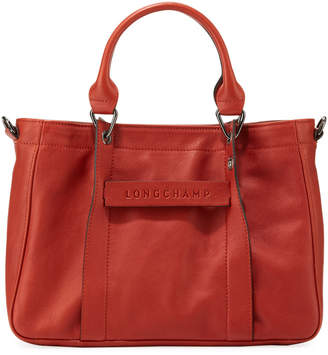 Longchamp 3D Small Calf Leather Tote Bag