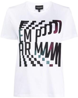 Emporio Armani abstract logo print T-shirt