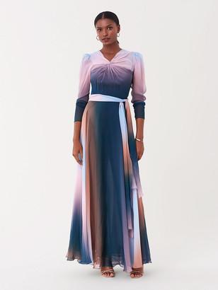 Diane von Furstenberg Dixie Silk-Chiffon Belted Gown