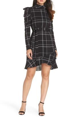 Julia Jordan Long Sleeve Crepe Dress