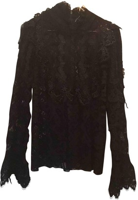 Anna Sui Black Lace Top for Women