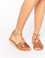 Asos JAILBIRD Leather Metallic Summer Shoes