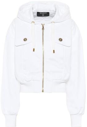 Balmain Cotton-jersey hoodie