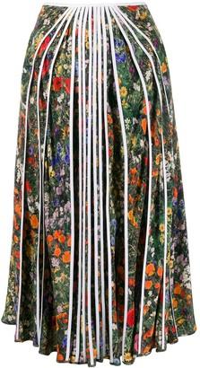 Stella McCartney Floral Print Pleated Skirt