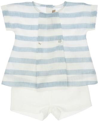 La Stupenderia Printed Linen Shirt & Shorts