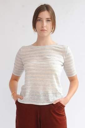 Bellerose Seas T Shirt In Stripe A - L