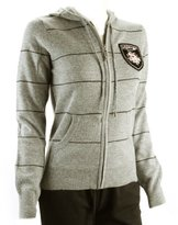 Ed Hardy Mens Patch Knitted Striped Zip Up Hoodie Sweater