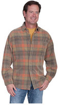 Scully Men's Corduroy Plaid Shirt TR
