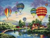 """Dimensions Collection Balloon Glow Counted Cross Stitch Kit-16""""X12"""" 18 Count"""