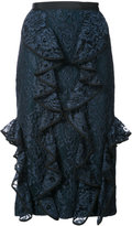 Alexis floral lace skirt
