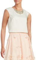 Eliza J Embellished Cropped Top
