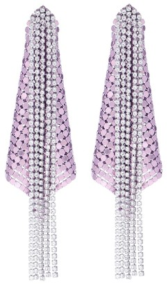 Paco Rabanne Exclusive to Mytheresa Crystal and mesh earrings