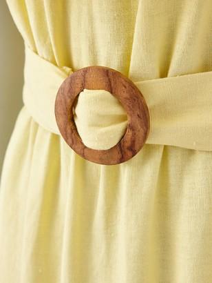 Very Frill Bardot Mini Dress - Yellow