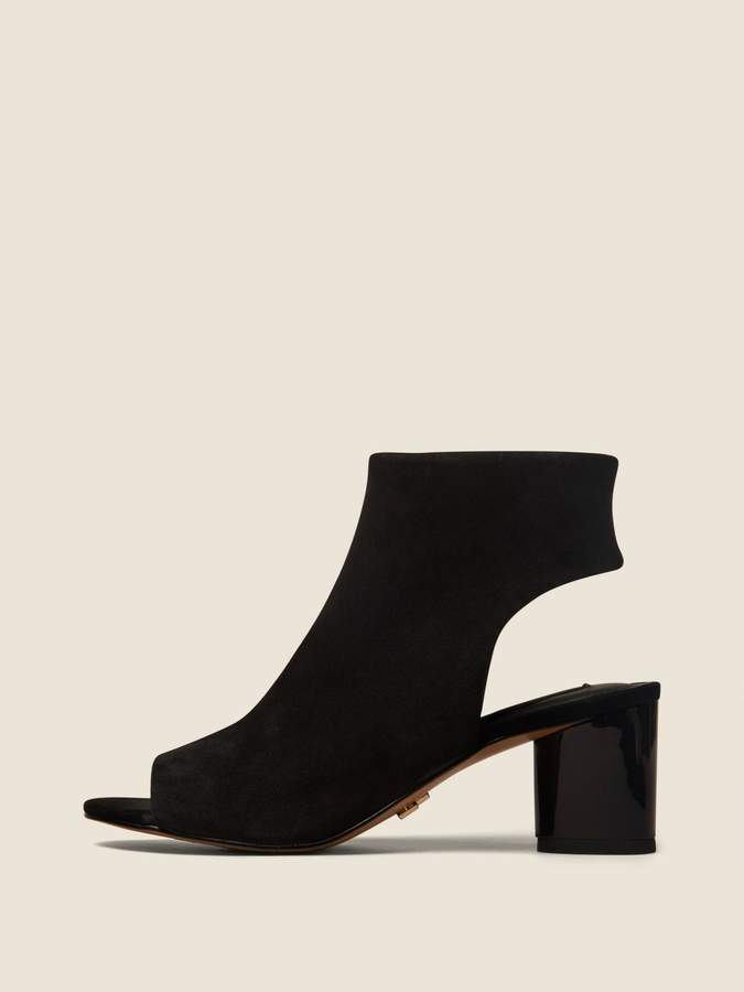 DKNY Gin Suede Peep-Toe Ankle Bootie