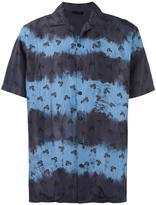 Lanvin leaf print stripe shirt