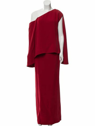 Tom Ford Silk Evening Gown red