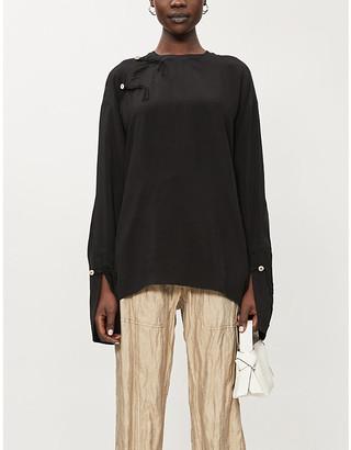 Acne Studios Split-back crepe blouse