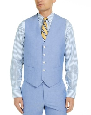 Tommy Hilfiger Men's Modern-Fit Th Flex Stretch Chambray Suit Vests