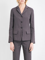 Jil Sander Textured single-breasted shell jacket