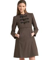 Stretch Wool Flannel Dress
