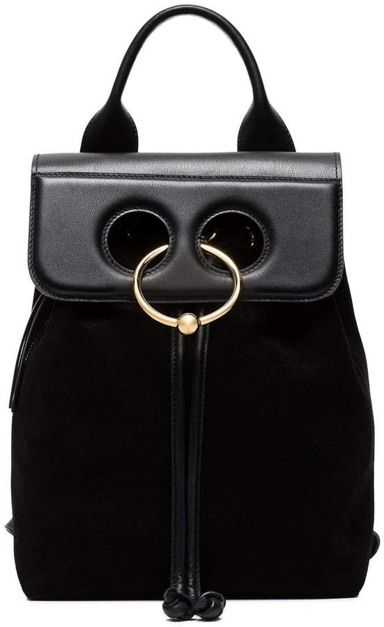 J.W.Anderson black Pierce Mini Suede backpack
