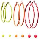 Charlotte Russe Neon Stud & Hoop Earrings - 6 Pack