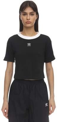 adidas Cropped Logo Cotton T-shirt