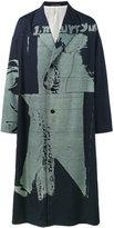 Yohji Yamamoto Reversible oversized printed overcoat - men - Silk/Cupro/Wool - 1