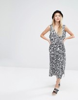 Monki Midi Button Up Dress