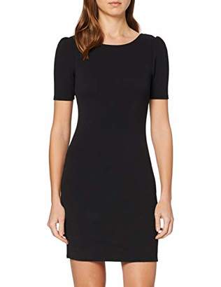 Dorothy Perkins Women's Short Puff Sleeve Bodycon Mini Dress,8 (Size:8)