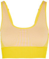 adidas by Stella McCartney The Seamless Climalite Stretch Sports Bra - Mustard