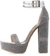 Charlotte Russe Bamboo Glitter Platform Two-Piece Sandals