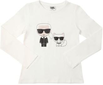 Karl Lagerfeld Paris & Choupette L/s Cotton T-shirt