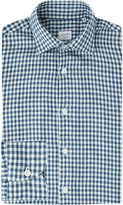 SLOWEAR Gingham cotton-chambray shirt