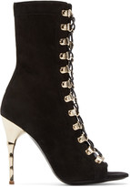 Balmain Black Suede Ava Boots