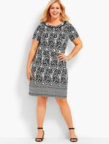 Talbots Womans Exclusive Paisley Knit Sheath Dress