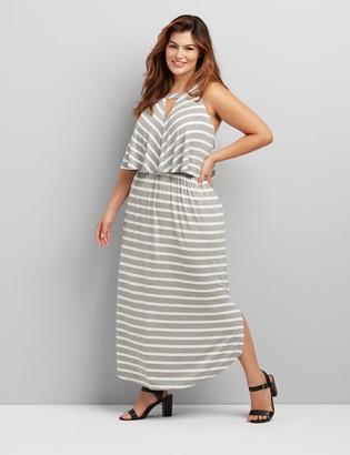 Lane Bryant Cutout Striped Maxi Dress