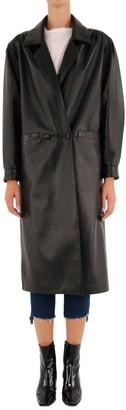 Alessandra Rich Oversized Leather Coat