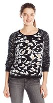 Miss Me Junior's Leopard Print Pullover Top