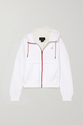 Nike Jordan Printed Fleece-back Jersey Hoodie - White