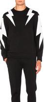 Neil Barrett Bi Color Thunderbolt Sweatshirt