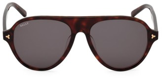 Bally 57MM Plastic Aviator Sunglasses