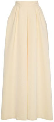 Rochas High Waist Full Maxi Skirt