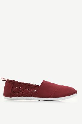 Ardene Canvas Crochet Slip-on Sneakers