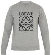 Loewe Logo-embroidered Cotton Sweatshirt